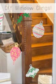 diy christmas ornament window clings