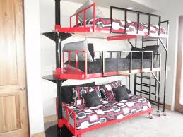 Three Tier Bunk Bed 3 Tier Bunk Bed Plans Interior Design Ideas For Of Simple