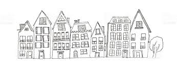 drawing houses pencil drawing of houses stock vector art more images of black and