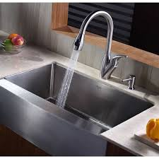 16 Gauge Kitchen Sink by Kraus Khf200 33 Professional Stainless Steel Apron Front Single