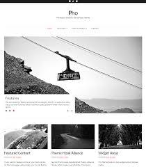 pho minimalist masonry wordpress theme thematosoup