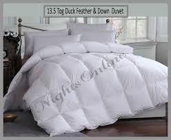 Duvet 13 5 Tog Luxurious Duck Feather U0026 Down 13 5 Tog Duvet Premium Hotel