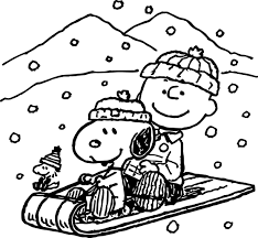 snoopy winter coloring page wecoloringpage