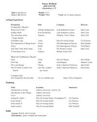 Theatrical Resume Sample by Professional Actor Resume Sample Acting Cv 101 Beginner Acting