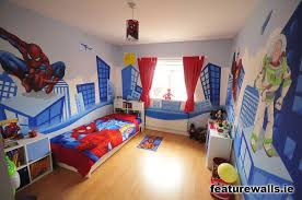 Boys Superhero Bedroom This Is Cool Do A City Landscape And Then Get Some