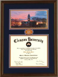 clemson diploma frame clemson diploma frame tillman sunset 30 clemsonframeshop