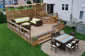 Landscaping Ideas For Large Backyards by Garden Design Garden Design With Backyard Deck And Patio Ideas