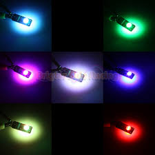 Cool Led Lights by 2x Funky Style T10 168 194 Led Light Bulbs Rgb Chips Cool Colors