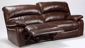 Power Leather Recliner Sofa Damacio Brown 2 Seat Power Reclining Sofa From