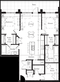 luxury townhome floor plans suite 106 1 252 sq ft new condo floor plan