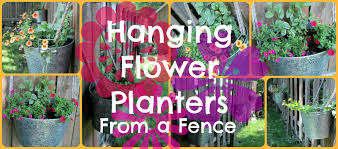 diy hanging flower planters from a fence lily frog flowers on 27