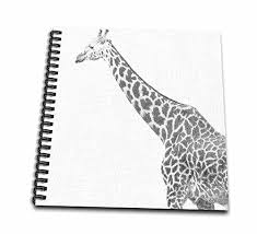giraffe pattern notebook 3drose db 47701 1 black and white giraffe sketch animals art drawing