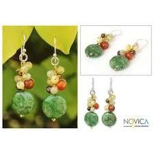 thailand earrings handmade sterling silver flow multi gemstone pearl earrings 4
