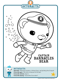 shocking ideas barnacle animal coloring pages captain barnacles