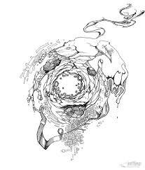 hole in the earth sketch pen u0026 ink illustration