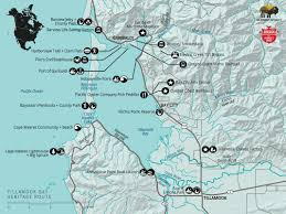 Oregon Coastal Map by The Tillamook Bay Heritage Route Outdoor Project