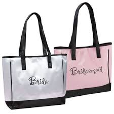 bridal party tote bags or bridesmaid tote bags s gifts novelty wedding