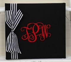 monogrammed scrapbook monogrammed scrapbook with ribbon