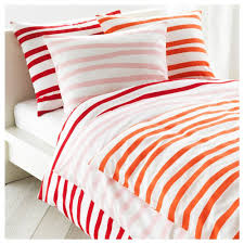 Ikea King Size Duvet Cover Ikea Odestrad Twin Full Queen Duvet W Pillowcase S Orange White