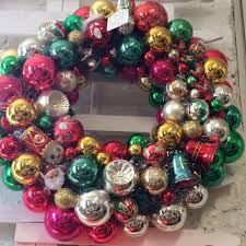 the polohouse vintage ornament wreath