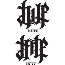 love and tattoo designs ambigram tattoo respect loyalty