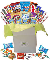 candy gift basket snack gift basket care package with sweet and salty