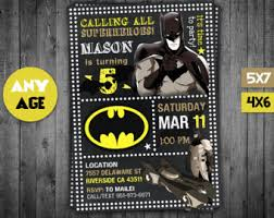 batman card batman invitation thank you card birthday card