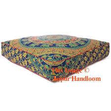 Ottoman Pillows Mandala Square Floor Pillows 35 Xl Outdoor Seating Pouf Ottoman Cover