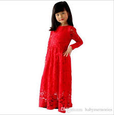 baby girls lace maxi dress kids party long dresses childrens floor
