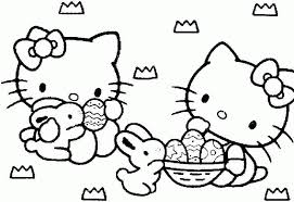easter kitty coloring pages kids adults
