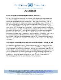 bureau de la coordination des affaires humanitaires note d informations humanitaires du 13 septembre 2017 mission du