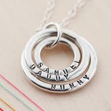 ring with children s names necklace with childrens names necklace