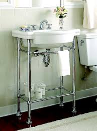 Modern Twin Pedestal Sinks For Small Bathrooms Small Bathroom Console Sink For Unique Free Standing Sink Design Ideas