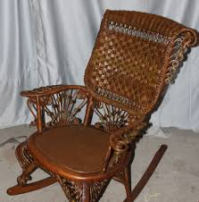 this is a very fancy victorian wicker rocking chair this wicker