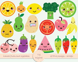 cute fruits and vegetables clipart free cute fruits and