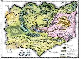 map ot 29 best wizard of oz map images on wizards dr oz and