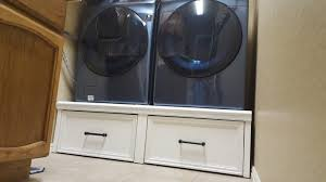 Build Washer Dryer Pedestal Diy Washer Pedestal With Drawers Do It Your Self