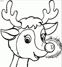 reindeer printable coloring pages rudolph the red nosed reindeer coloring pages with regard to