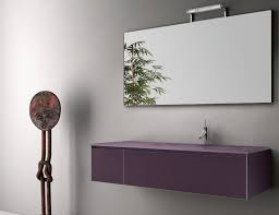 Modular Bathroom Vanity by Infinity In7 Modular Italian Bathroom Vanity In Plum Glass