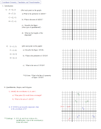 Reflections And Rotations Worksheet Math Plane Coordinate Geometry 2