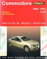 holden commodore ve series 2006 2012 gregorys workshop repair