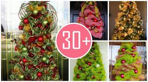 christmas trees with deco mesh christmas lights decoration