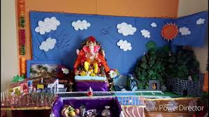 abhishek shewale home ganpati decoration 2017 bappa the village