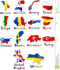 Portugal And Spain Map by Moldova Netherlands Norway Poland Portugal Romania Stock