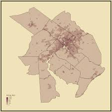 Reading Pennsylvania Map by Population Density Statistical Atlas Of The United States