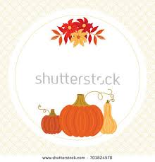 thanksgiving autumn fall greeting card template stock vector