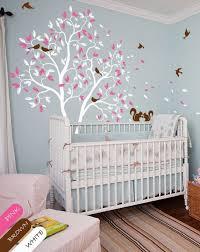 stickers arbre chambre fille arbre blanc autocollant pépinière mur murale sticker mural within