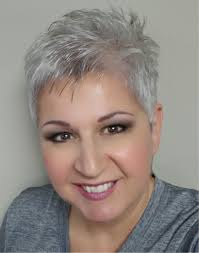 funky hairstyle for silver hair short hair pinteres