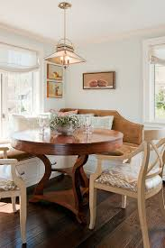 Round Dining Table With Hidden Chairs Designs Ideas Beautiful Banquette Dining With Hidden Storage