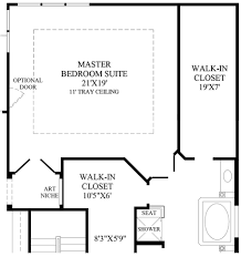 master bedroom floor plan with bath and walk in closet ensuite